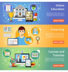 1608i124027sm004c11online education flat banners vector