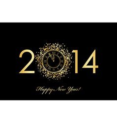 2014 new year clock vector