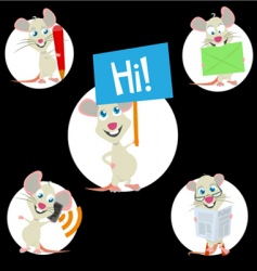 sweet mouse mascot vector image