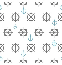 Seamless pattern with gray rudders vector