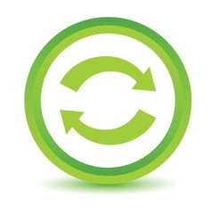 Green synchronization icon vector