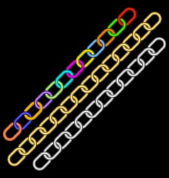multicolored chains vector image