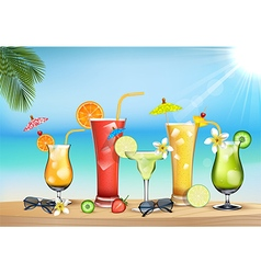 Vegetable juices vector image