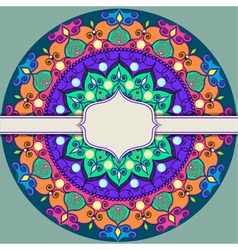 Mandala decoration isolated design element zentang vector