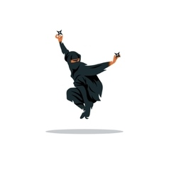 Asian ninja cartoon  assasin vector