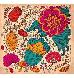Abstract and colourful spring garden vector