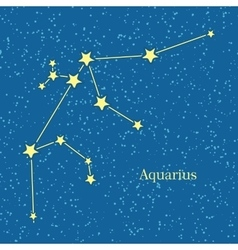 Aquarius zodiac sign symbol horoscope vector