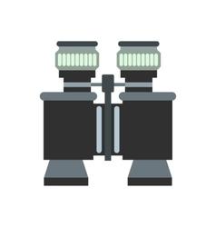 Black binoculars flat icon vector image
