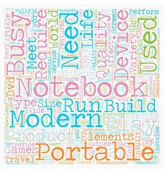 Build Your Own Notebook text background wordcloud vector image