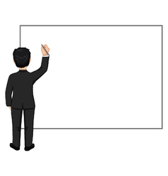 Businessman with pen and blank board vector image vector image