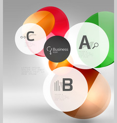 circle banner template vector image vector image