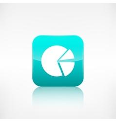Circular diagram web icon application button vector
