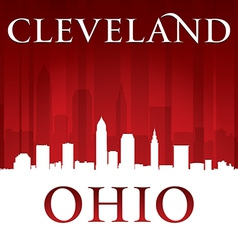 Cleveland Ohio city skyline silhouette vector image