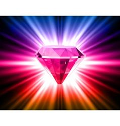 Colorful diamond on bright background vector image vector image