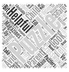 Crossword puzzle magazines word cloud concept vector