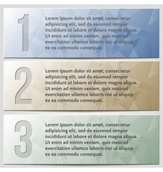 infographic enumerated presentation banner set vector image