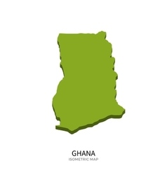 Isometric map of Ghana detailed vector image vector image