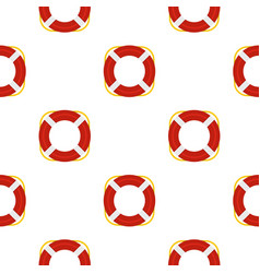 Lifebuoy pattern flat vector