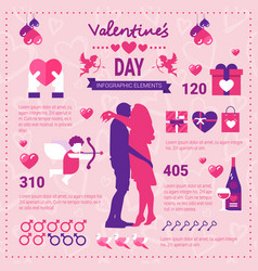 modern infographic banner for valentines day set vector image vector image