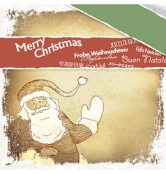 multilingual merry christmas card vector image