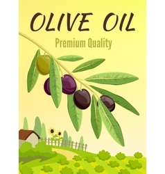 Olive colored poster vector