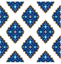 oriental seamless pattern with arabesque vector image