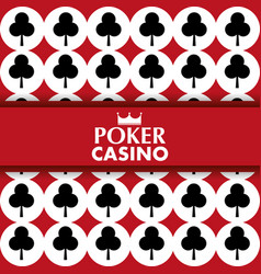poker casino card clover symbol poster vector image