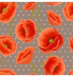 Poppy seamless wallpaper vector image vector image