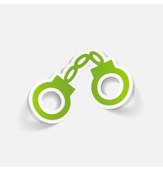 realistic design element handcuffs vector image vector image