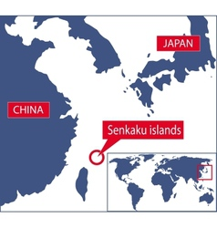 Senkaku map vector