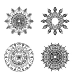 Set of mandalas Vintage decorative elements vector image vector image