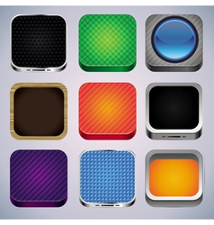 set with 9 app icons vector image