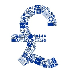 Symbol of british currency vector image