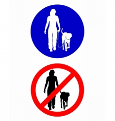 dog sign vector image
