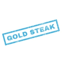 Gold steak rubber stamp vector
