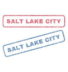 salt lake city textile stamps vector image