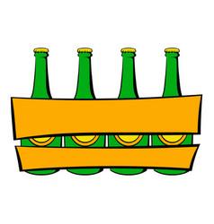 beer wooden box icon icon cartoon vector image