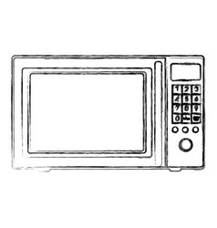 blurred silhouette with oven microwave vector image