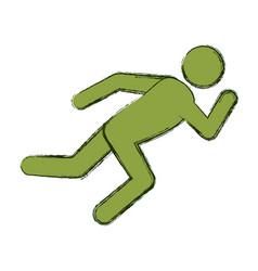 Athlete running pictogram vector