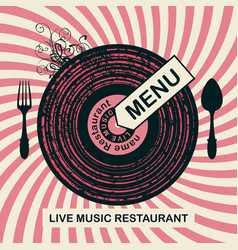 banner for restaurant menu with live music vector image
