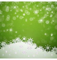 Green merry christmas background vector