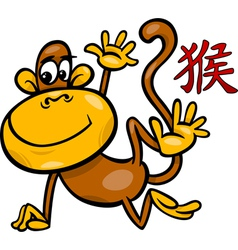 Monkey chinese zodiac horoscope sign vector