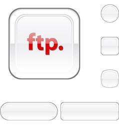 Ftp white button vector