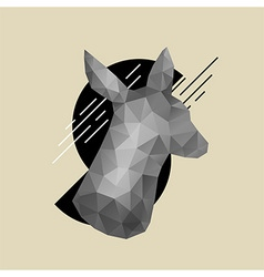 Animal head hipster vector