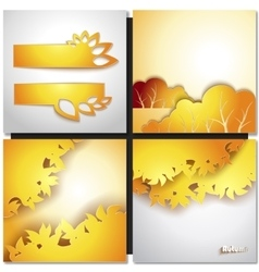Autum yellow leaf background vector