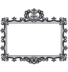 Victorian style black frame with copy space vector