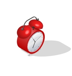 Alarm clock isometric icon vector
