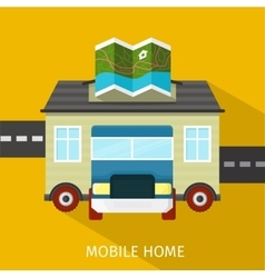Mobile Home Flat Design Banner vector image