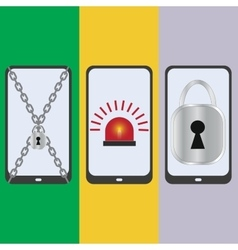 Set mobile security vector