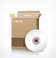 Cd box package vector